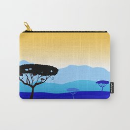 Africa : blue and gold Art Carry-All Pouch