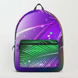 Purple Background with Feathers Backpack