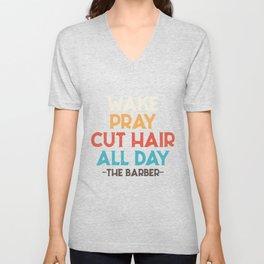 Barber hair cut Unisex V-Neck