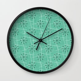 Atomic Starbursts Mid-Century Style Wall Clock