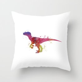 Velociraptor Throw Pillow