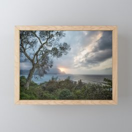 Sunset Over Hanalei Bay from St Regis Framed Mini Art Print