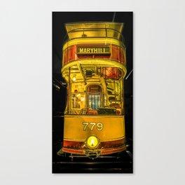 Old Glasgow Tram Canvas Print