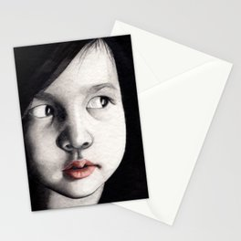 oriental girl Stationery Cards