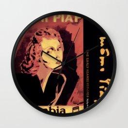 PIAF MUSIC VINTAGE Wall Clock