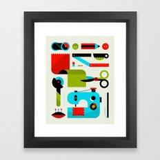Sewing Kit Framed Art Print