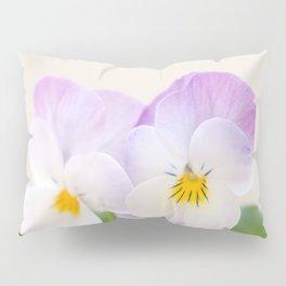 Spring Love #1 - Soft violet-white Pansies #decor #art #society6 Pillow Sham