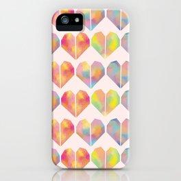 pastel heart iPhone Case
