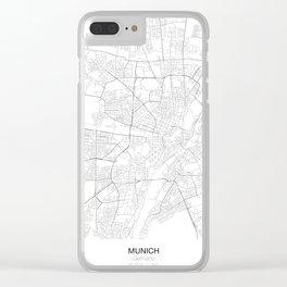 Munich, Germany Minimalist Map Clear iPhone Case