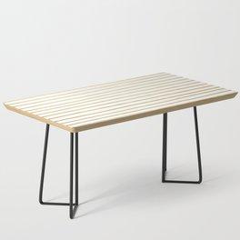 Gold Paris Stripe Pattern Coffee Table