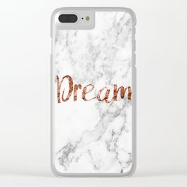Rose gold marble dream Clear iPhone Case