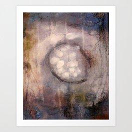 Lost Eye - Mixed Media Acrylic Abstract Modern Art, 2009 Art Print