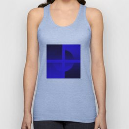 Blue cross Unisex Tank Top