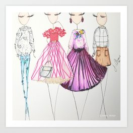 Chic Clique Fashion Illustration Art Print