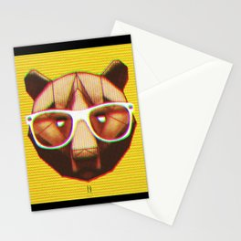 3D GEEKY GRIZZLY BEAR Stationery Cards