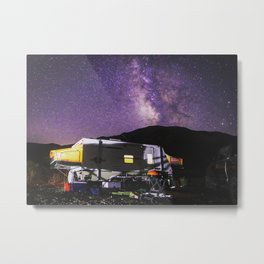 RV & Stars, Cold Creek NV Metal Print