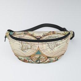 Ancient Monde Map of the World - Jeanpaul Ferro Fanny Pack