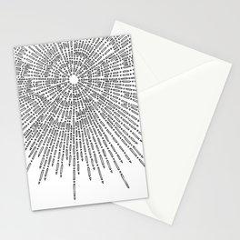 Bridging on White Background Stationery Cards