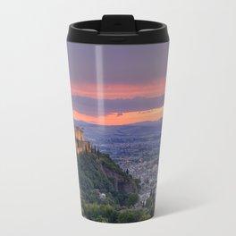 The alhambra and Granada city at sunset Travel Mug