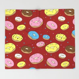 Cute Donuts Throw Blanket