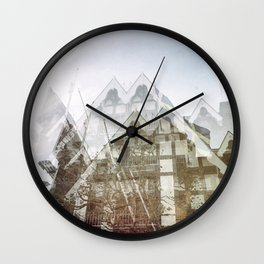 san francisco double exposure, gothic edit Wall Clock