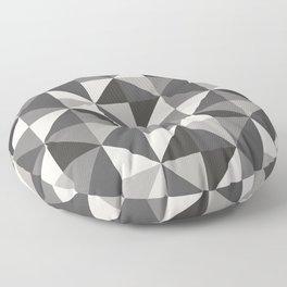 Modern Shades of Grey Floor Pillow