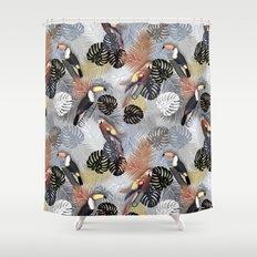 Tropical Birds Shower Curtain