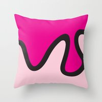 ice cream Throw Pillows featuring Ice Cream by Dale J Cheetham