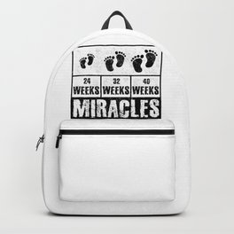 Baby Announcement Gift Idea Miracles Start with Tiny Steps Baby Gender Reveal Gift Backpack
