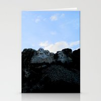 rushmore Stationery Cards featuring Mt. Rushmore At Sunset by Jennifer L. Craft