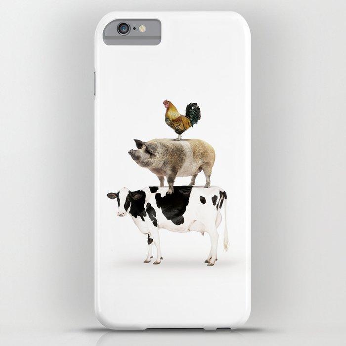 Three Stacked Farm Animals iPhone Case