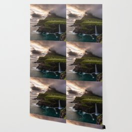 Gasadalur waterfall Wallpaper