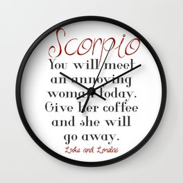 Horoscope Wall Clock