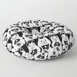 Three Smart Cats Floor Pillow