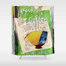 Books and Coffee Shower Curtain