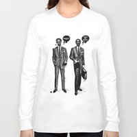 zombies Long Sleeve T-shirts featuring HALLOWEEN ZOMBIES by kravic