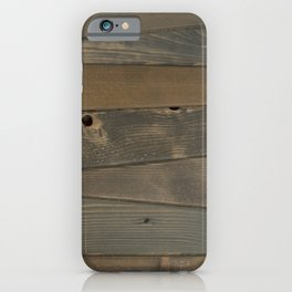 Wood Panel - dyed Shades of Gray iPhone Case