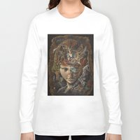 labyrinth Long Sleeve T-shirts featuring Labyrinth by Hikaru Miyakawa