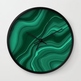 Liquid Malachite Dream #1 #gem #decor #art #society6 Wall Clock