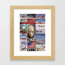Jet,Mask,US Flag Framed Art Print