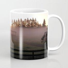 Stables in Fog Coffee Mug