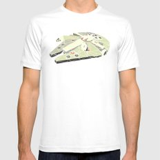 The Millennium Falcon White MEDIUM Mens Fitted Tee