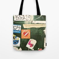 stickers Tote Bags featuring stickers by kazmcart