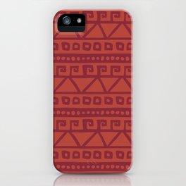 Aztec hand-drawn pattern iPhone Case