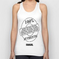 fangirl Tank Tops featuring Authentic Fangirl by Off The Path Creative