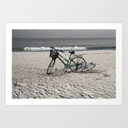 Bike on Barefoot Beach Art Print