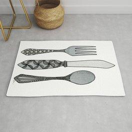 Fork Knife & Spoon Rug