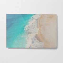 looking down on the Adriatic Sea ... aerial beach photograph Metal Print