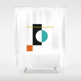 DEK 01// Art Deco & Mid Century Minimalist Illustration Shower Curtain
