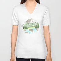 "pixar V-neck T-shirts featuring ""Adventure is Out There!"" - Up, Pixar by astoldbycaro"